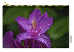 Purple Flower 7 Carry-all Pouch by Timothy Latta