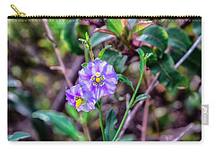 Purple Flower Family Carry-all Pouch