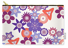 Purple Flower Fantasy Carry-all Pouch by Methune Hively