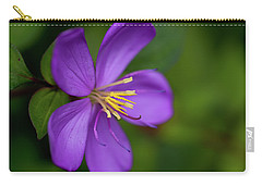 Purple Flower Macro Carry-all Pouch