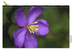 Carry-all Pouch featuring the photograph Purple Flower Macro Impression by Dan McManus