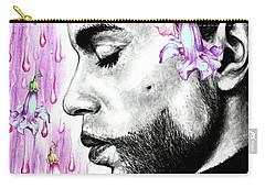 Purple Flower Rain  Prince, Roger Nelson Carry-all Pouch by Heidi Kriel