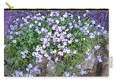 Purple Flower Textured Photo 1028b Carry-all Pouch
