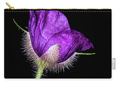 Purple Flowering Raspberry Carry-all Pouch by Barbara Bowen