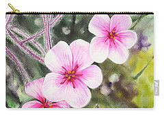 Carry-all Pouch featuring the painting Purple Flowers In Golden Gate Park San Francisco by Irina Sztukowski