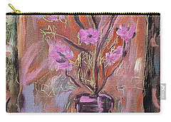Purple Flowers In Vase Carry-all Pouch