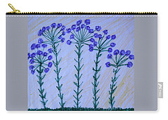 Purple Flowers On Long Stems Carry-all Pouch