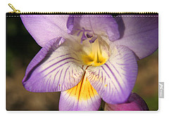 Purple Fresia Flower Carry-all Pouch