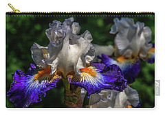 Purple Fringed White Iris Carry-all Pouch