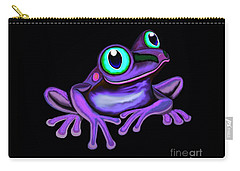 Carry-all Pouch featuring the painting Purple Frog  by Nick Gustafson