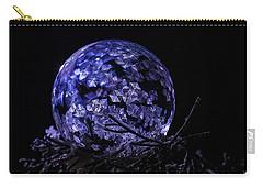 Purple Frozen Bubble Art Carry-all Pouch