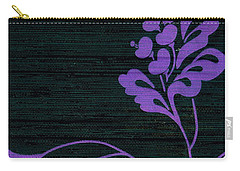 Purple Glamour On Black Weave Carry-all Pouch