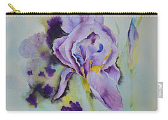 Carry-all Pouch featuring the painting Purple Glory by Beatrice Cloake