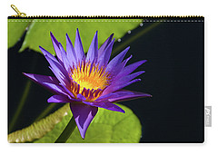 Carry-all Pouch featuring the photograph Purple Gold by Steve Stuller