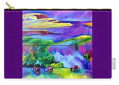 Purple Graze Carry-all Pouch by Elizabeth Fontaine-Barr
