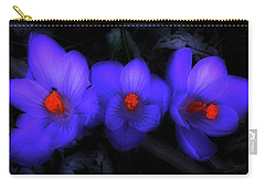 Beautiful Blue Purple Spring Crocus Blooms Carry-all Pouch