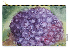 Carry-all Pouch featuring the painting Purple Hydrangea by Donna Walsh
