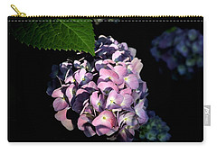 Carry-all Pouch featuring the photograph Purple Hydrangea In Morning Light by Sheila Brown