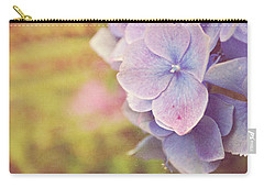 Carry-all Pouch featuring the photograph Purple Hydrangea by Lyn Randle