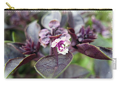 Carry-all Pouch featuring the photograph Purple In Autumn by Joan  Minchak