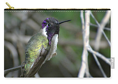 Carry-all Pouch featuring the photograph Purple Iridescence 2 by Fraida Gutovich