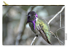 Carry-all Pouch featuring the photograph Purple Iridescence  by Fraida Gutovich