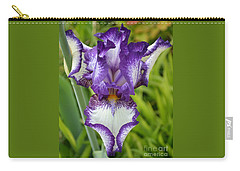 Purple Iris Art Carry-all Pouch