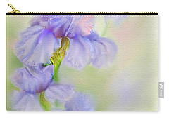 Carry-all Pouch featuring the painting Purple Iris by Bonnie Willis