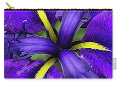 Purple Iris Centre Carry-all Pouch