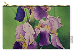 Purple Iris' Carry-all Pouch