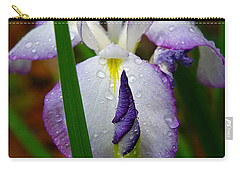 Purple Iris In Morning Dew Carry-all Pouch
