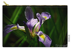 Carry-all Pouch featuring the photograph Purple Iris by Lisa L Silva