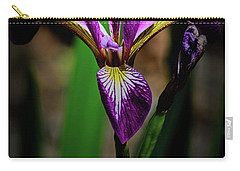 Carry-all Pouch featuring the photograph Purple Iris by Tikvah's Hope