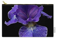 Carry-all Pouch featuring the photograph Purple Japanese Iris by Jean Noren