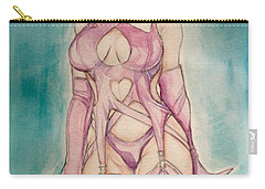 Purple Latex Girl Carry-all Pouch