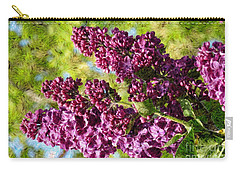 Carry-all Pouch featuring the photograph Purple Lilac 1 by Jean Bernard Roussilhe