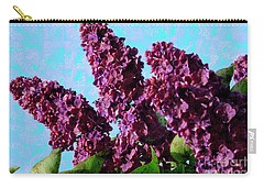 Carry-all Pouch featuring the photograph Purple Lilac 2 by Jean Bernard Roussilhe