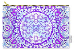 Carry-all Pouch featuring the digital art Purple Lotus Mandala by Tammy Wetzel
