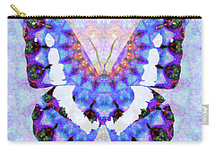 Carry-all Pouch featuring the painting Purple Mandala Butterfly Art By Sharon Cummings by Sharon Cummings