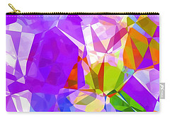 Purple Mix Abstract Carry-all Pouch