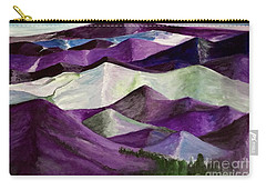 Carry-all Pouch featuring the painting Purple Mountains Majesty by Kim Nelson