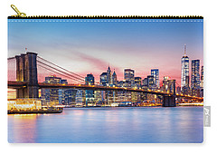 Purple Nyc Sunset Carry-all Pouch