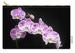 Carry-all Pouch featuring the photograph Purple On White On Black by Denise Bird