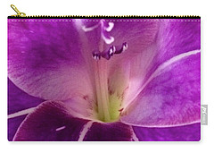 Carry-all Pouch featuring the photograph Purple Orchid Close Up by Kim Nelson
