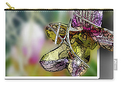 Purple Orchid Pop Carry-all Pouch by Deborah Nakano