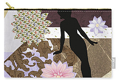Purple Paper Doll Carry-all Pouch