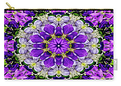 Purple Passion Floral Design Carry-all Pouch