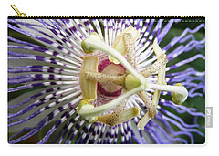 Purple Passion Flower Carry-all Pouch by Belinda Lee