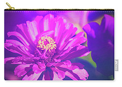 Carry-all Pouch featuring the photograph Purple Passion Flowers by Anna Louise