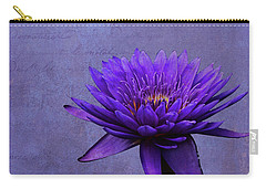 Carry-all Pouch featuring the photograph Purple Passion by Judy Vincent